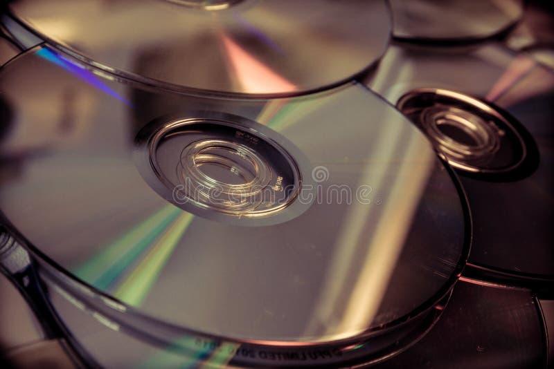 Viele dvds stockfoto