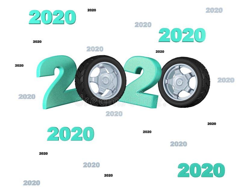 Viele Entwürfe des Sport-Rad-2020 lizenzfreie abbildung