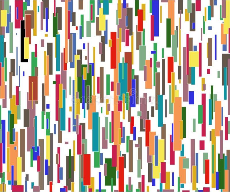 Viele Farbenzeilen stock abbildung