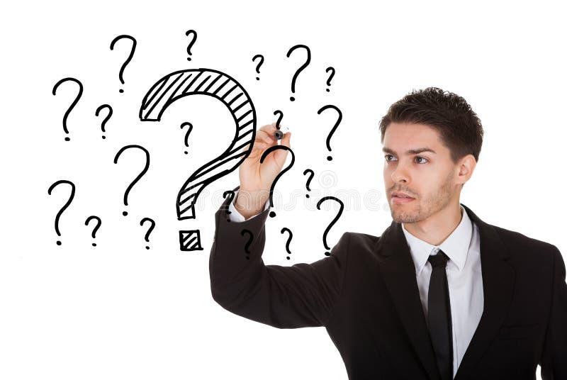 Viele Fragen lizenzfreies stockfoto