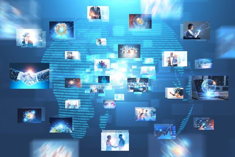 Viele Geschäftsbilder schließen an, global lizenzfreie abbildung