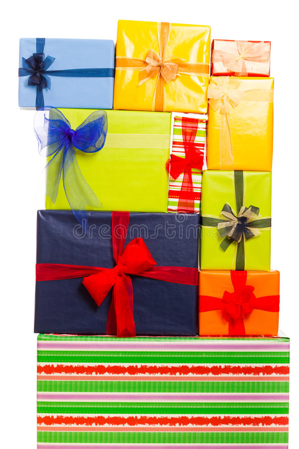 Viele Geschenke lizenzfreies stockbild