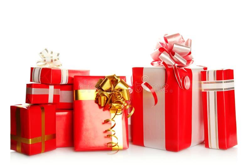 Viele Geschenkkästen verschiedene Größen lizenzfreie stockfotos