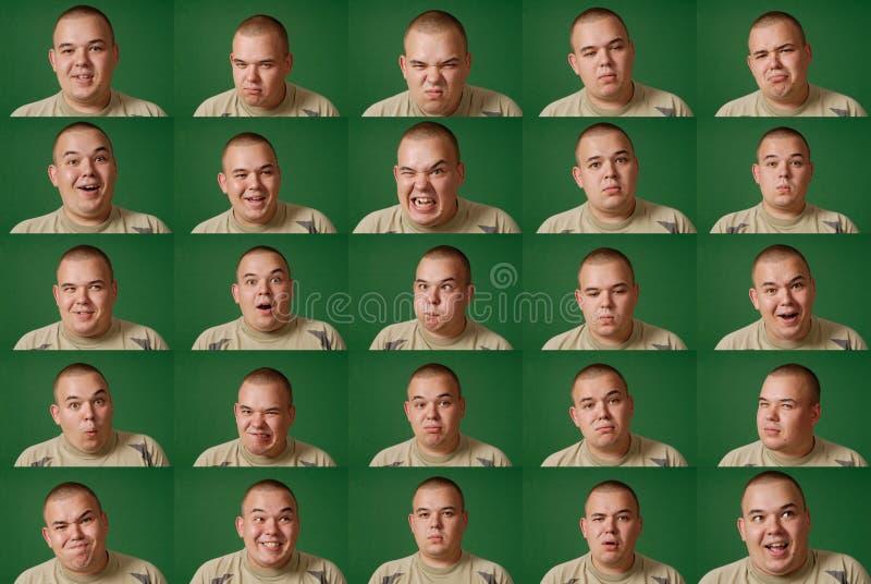 Viele Gesichter (chromakey Hintergrund, einfach zu schneiden) stockbild