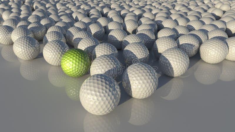 Viele Golfbälle vektor abbildung