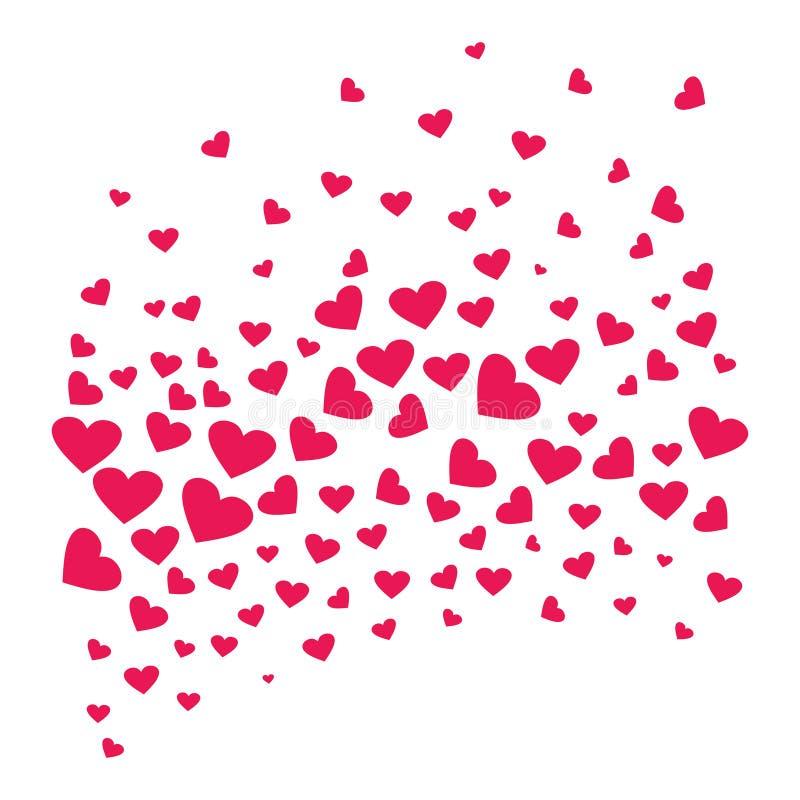 Viele Herzen, die eine Welle bilden vektor abbildung