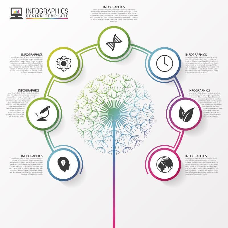 Viele mehr Ökologiebilder in meinem Portefeuille Schablone modernen Designs Infographic Vektor stock abbildung
