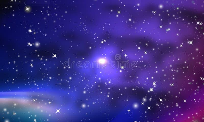 Viele Nebelflecke und Sterne in der Galaxie lizenzfreie abbildung