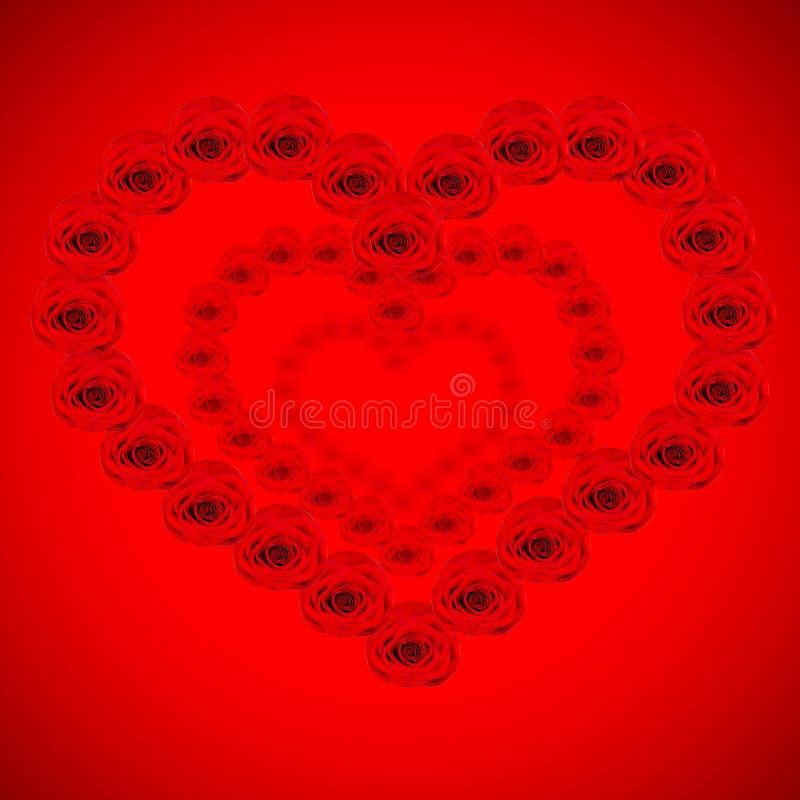 Viele roten Inneren werden von den Rosen gemacht stockfoto