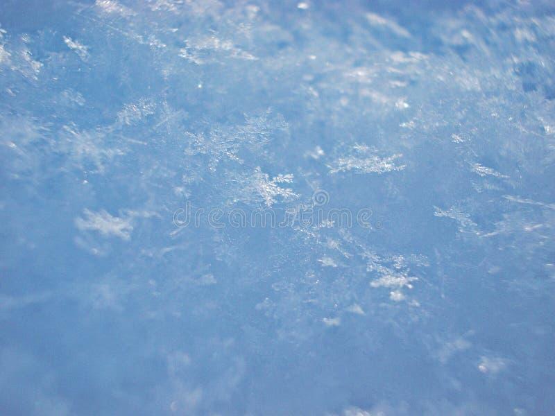 Viele Schneeflocken fotografiert im Makro lizenzfreies stockbild