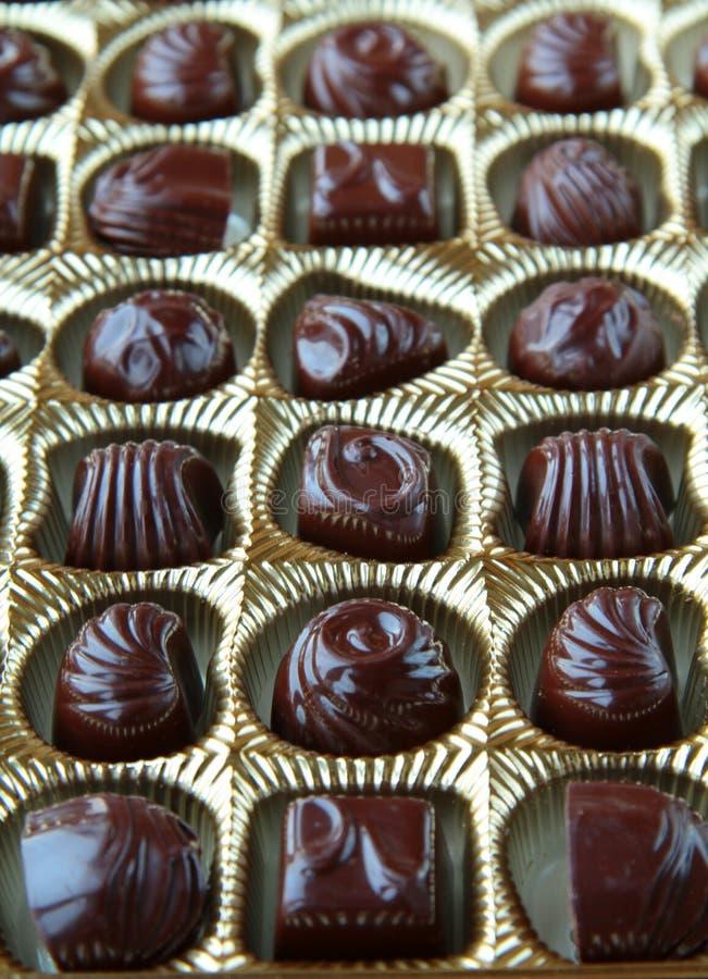 Viele Schokoladen stockbild