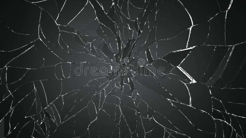 Viele Stücke defektes Glas auf Weiß vektor abbildung