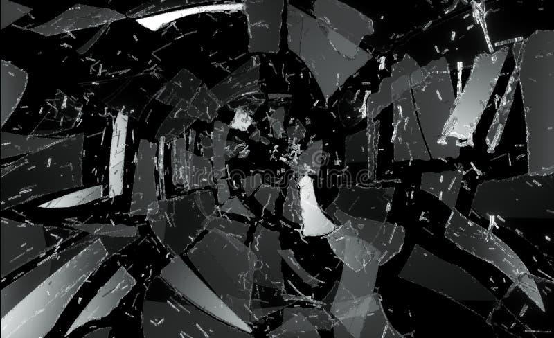 Viele Stücke defektes und zerbrochenes Glas lizenzfreie abbildung