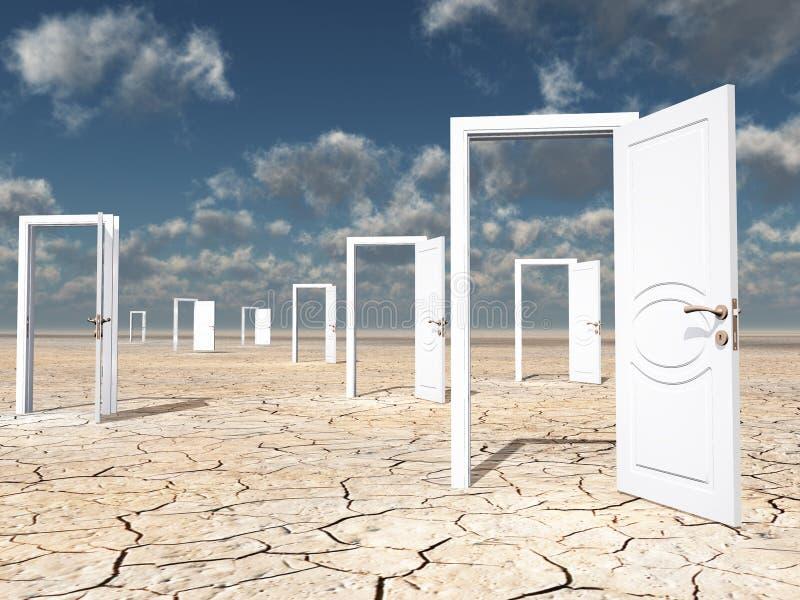 Viele Türen lizenzfreie abbildung