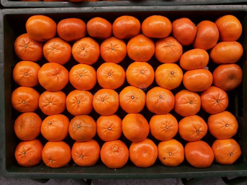 Viele Tangerinen stockfotos
