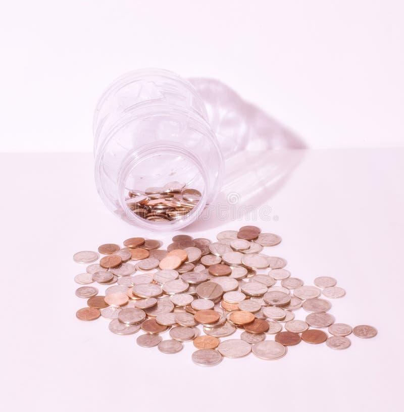 Viele Viertelgroschennickel und -pennies lizenzfreie stockfotografie