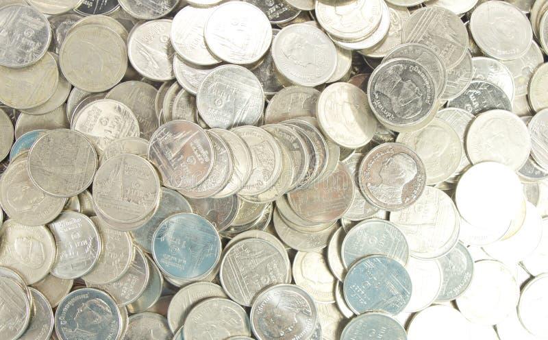 Viele von einer Bahtmünze lizenzfreie stockbilder