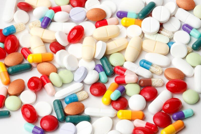 Vielzahl der Pillen stockfotografie