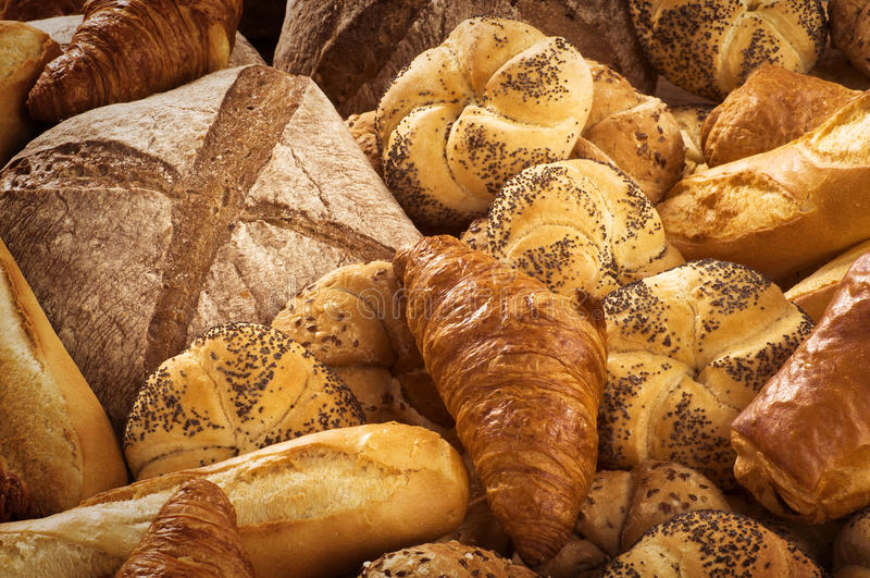 Vielzahl des Brotes stockbilder