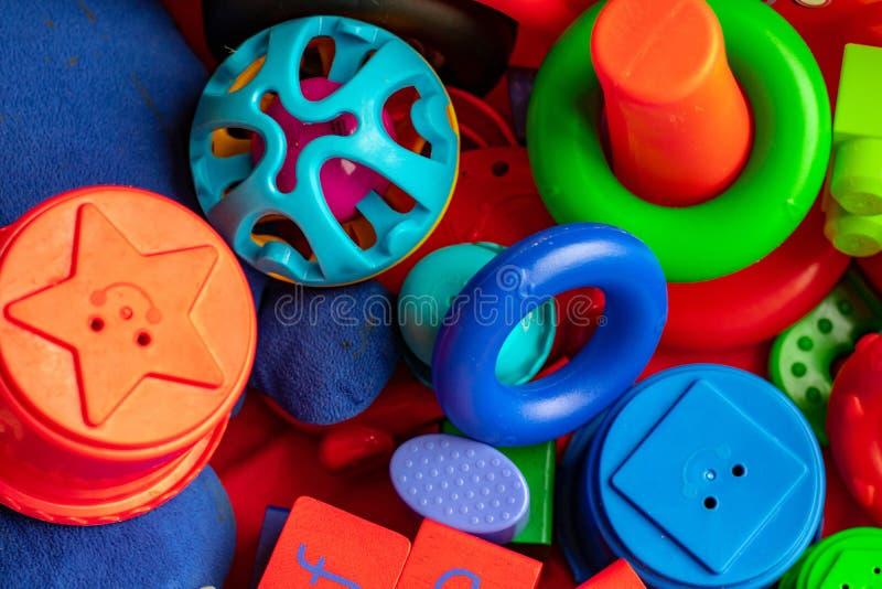 Vielzahl von Kleinkindspielwaren lizenzfreie stockfotos