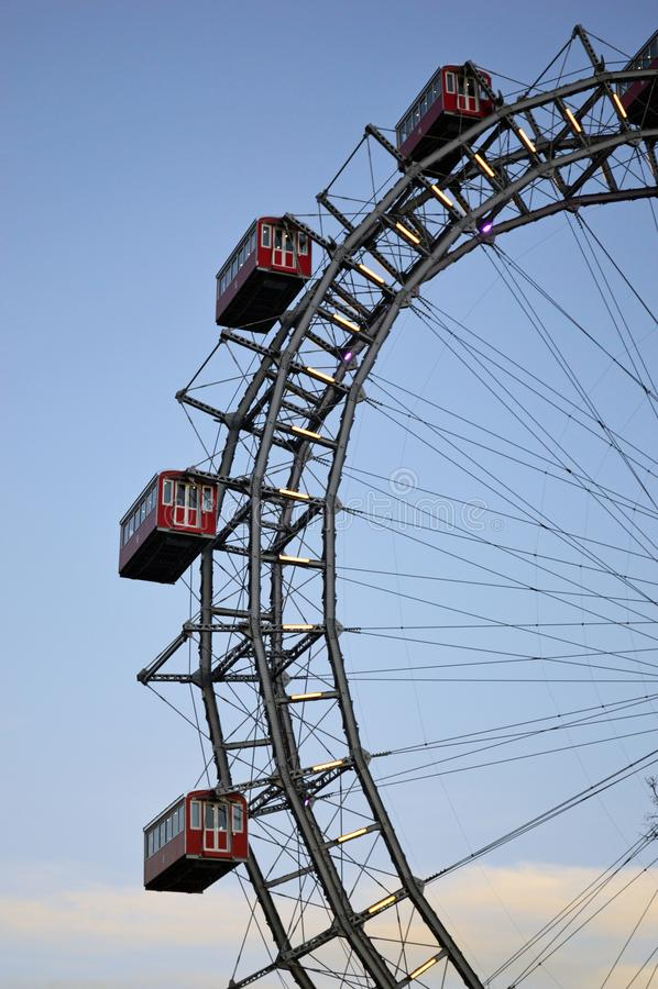 Viena Áustria, roda grande de Riesenrad da salsicha fotos de stock royalty free