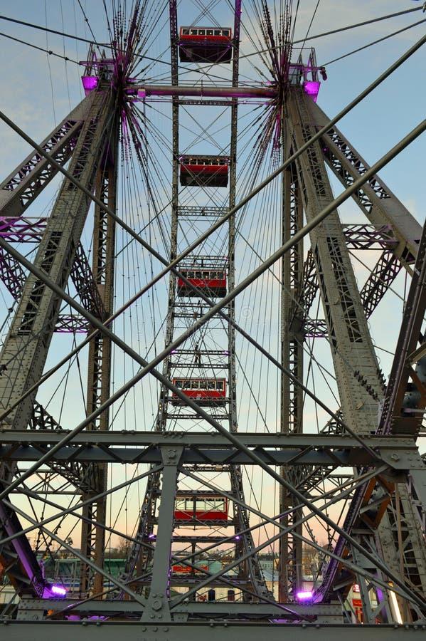 Viena Áustria, roda grande de Riesenrad da salsicha fotografia de stock royalty free