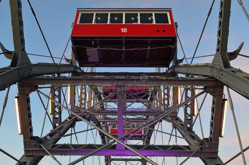 Viena Áustria, roda grande de Riesenrad da salsicha imagem de stock