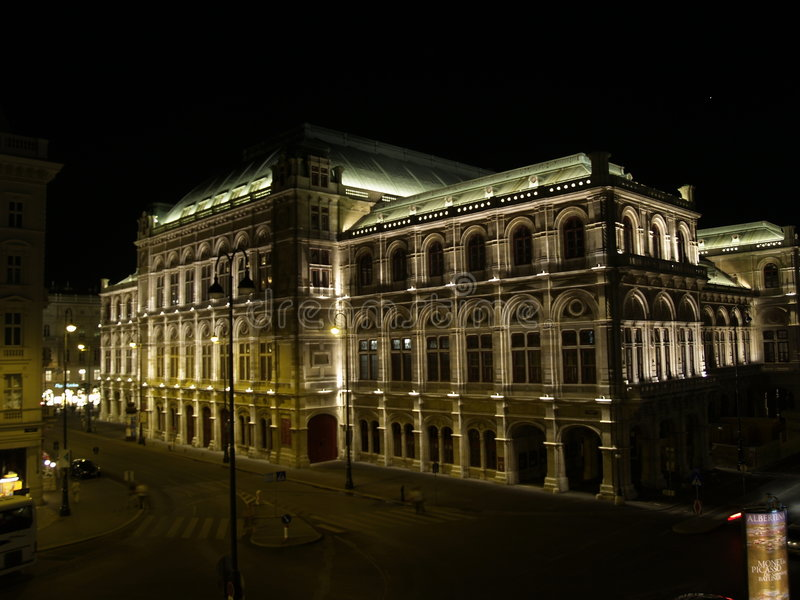 Viena - ópera del estado imagen de archivo