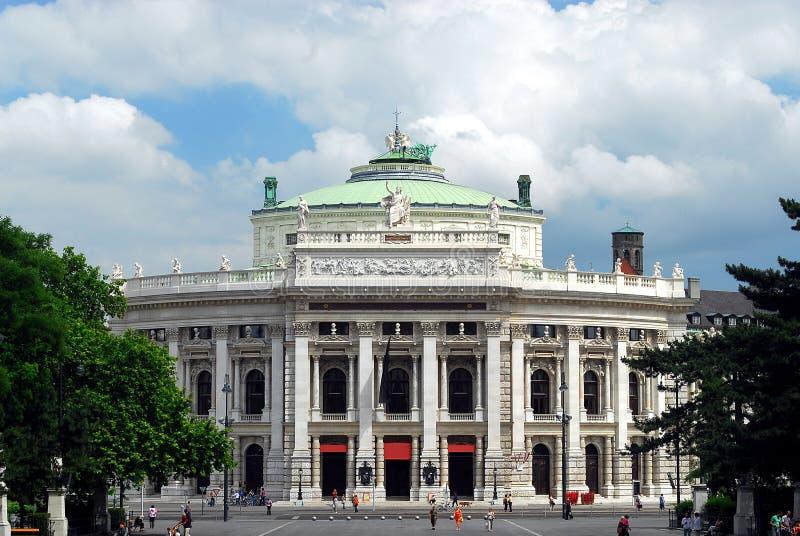 Viena - Burgtheater foto de stock