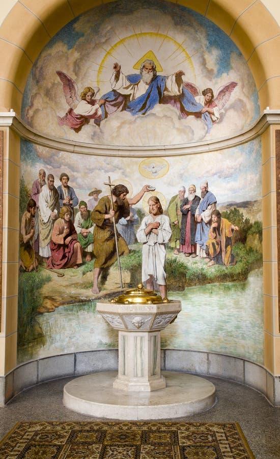 Viena - capela do baptistery fotos de stock royalty free