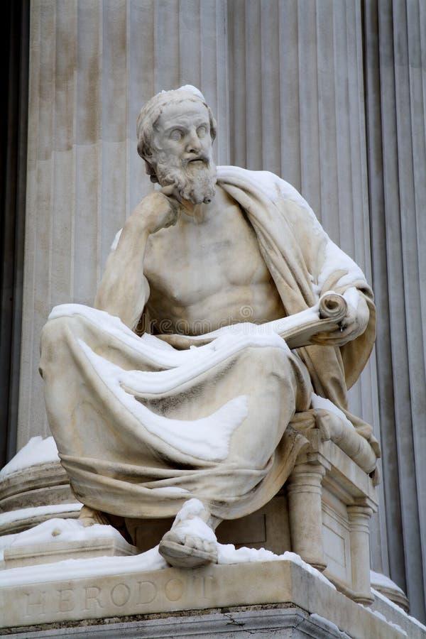 Viena - filósofo Herodotus imagem de stock royalty free