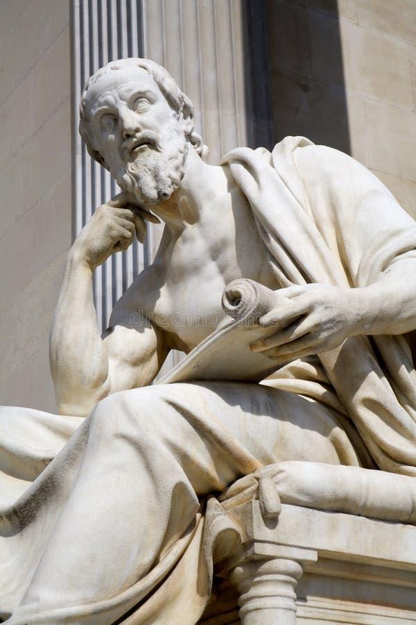 Viena - filósofo para el parlamento del fienna fotos de archivo libres de regalías