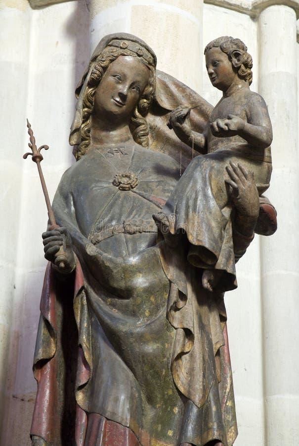 Viena - Madona gótico fotografia de stock royalty free
