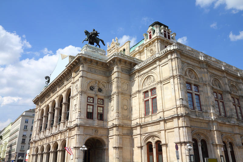 Viena - teatro da ópera imagens de stock royalty free