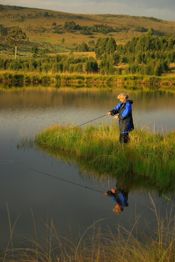 Viene la pesca immagine stock