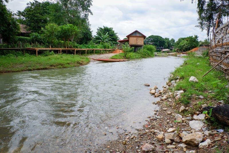 Vieng do vang de Laos imagens de stock