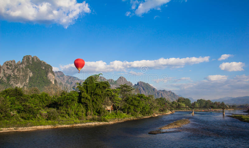 Vieng Laos de Vang foto de archivo libre de regalías