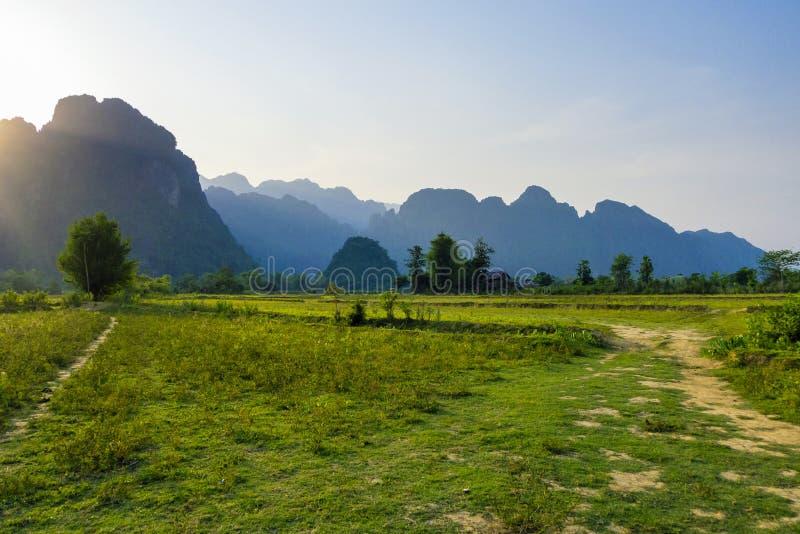 Vieng Laos de Vang foto de archivo