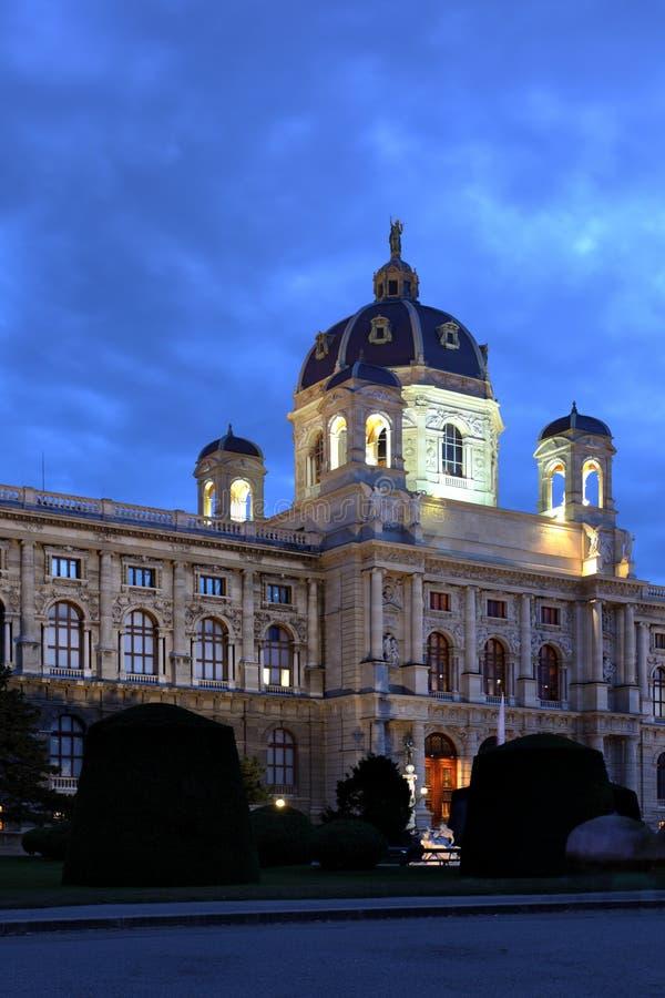 Vienna. Natural history museum at night, Vienna, Austria royalty free stock photos