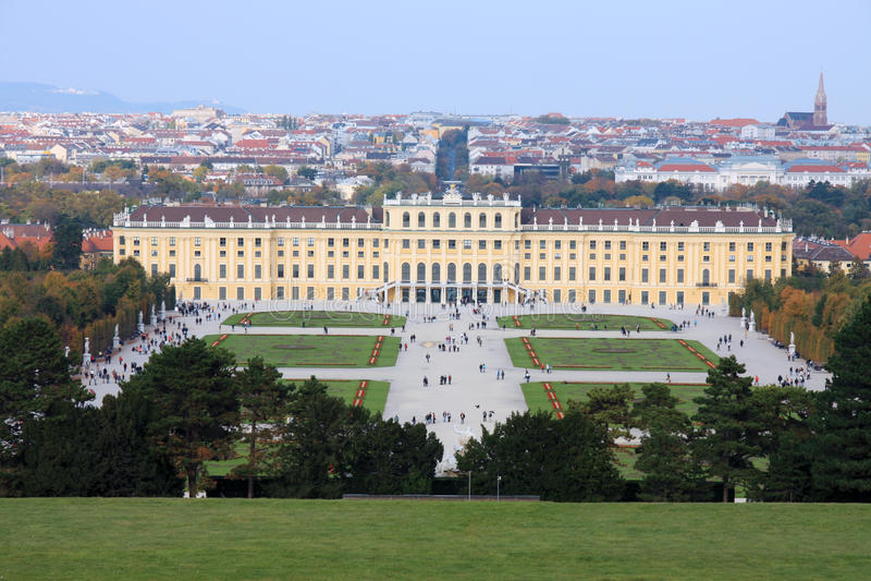 Vienna. Schonburnn palace and garden stock photo