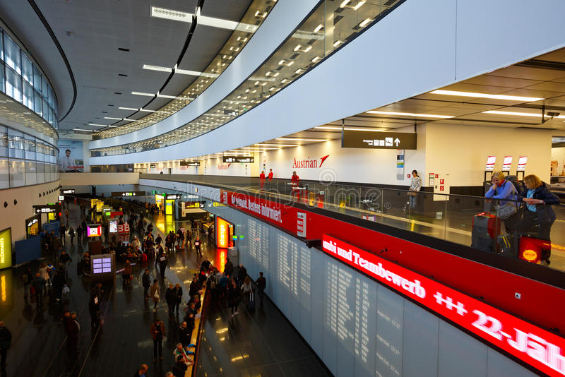 Vienna airport. stock photography