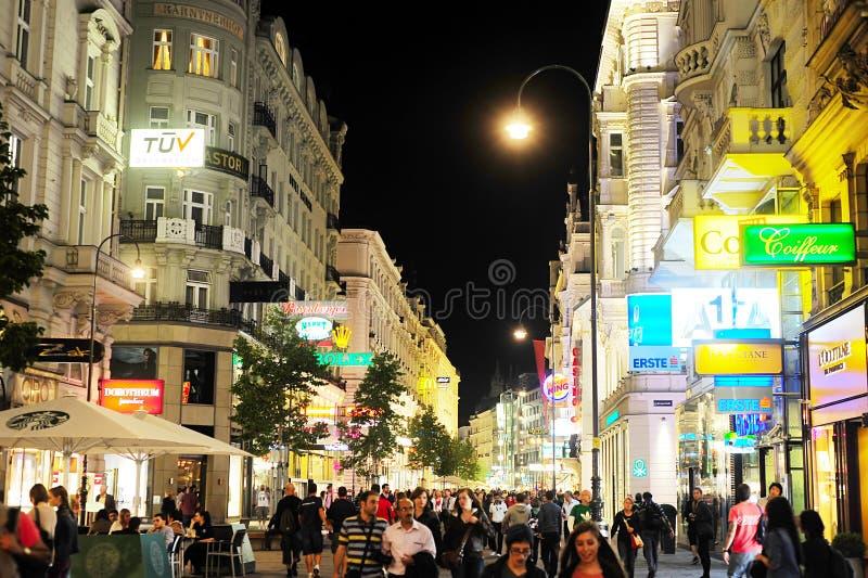 Vienna alla notte immagine stock