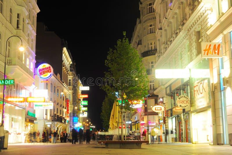 Vienna alla notte fotografie stock libere da diritti