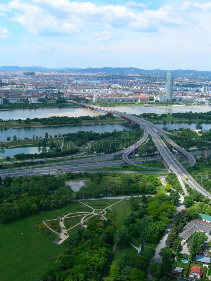Vienna, Austria aerial view stock images