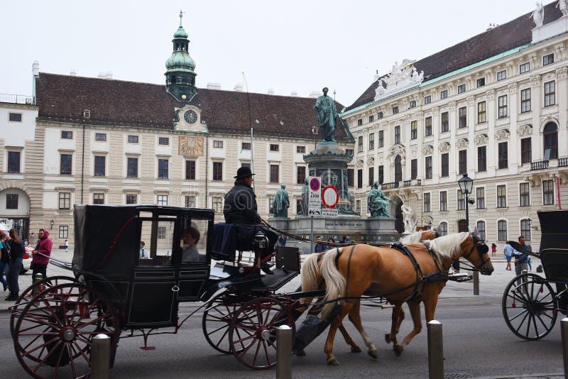 VIENNA, AUSTRIA - 29 agosto 2018: il Neue Burg, un nuovo castello del Hofburg P fotografia stock