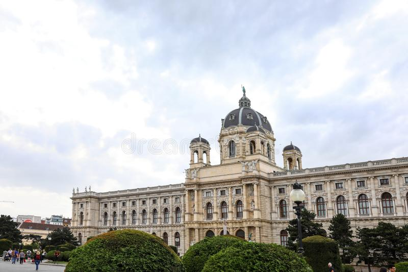 VIENNA, AUSTRIA - APRIL 26, 2019: Beautiful view of Natural History. Museum royalty free stock photo