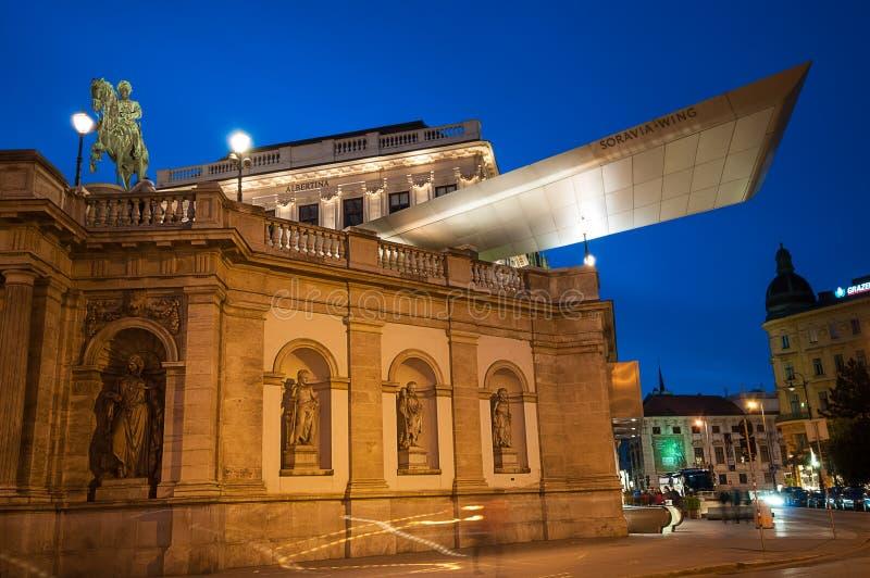 VIENNA, AUSTRIA - 24 APRILE 2016: Albertina Art Museum fotografia stock libera da diritti