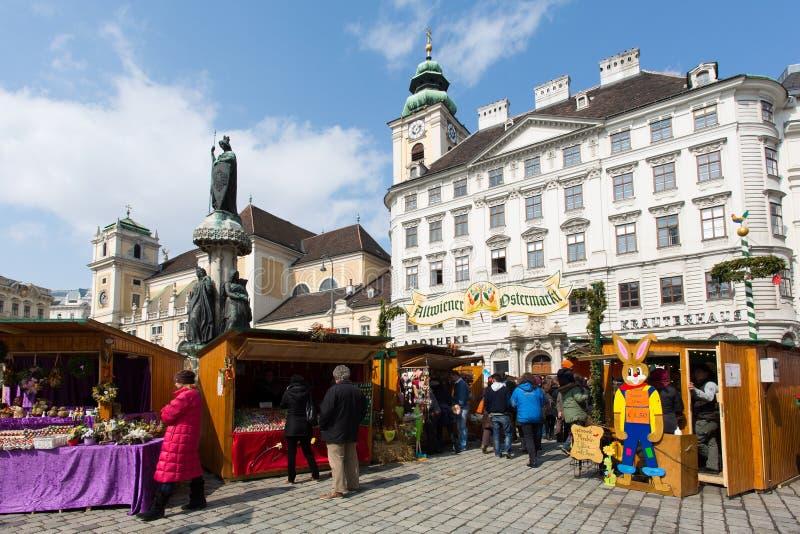 Mercato tradizionale di Pasqua a Vienna fotografia stock libera da diritti