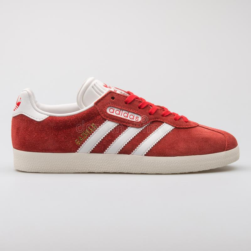 red leather gazelles