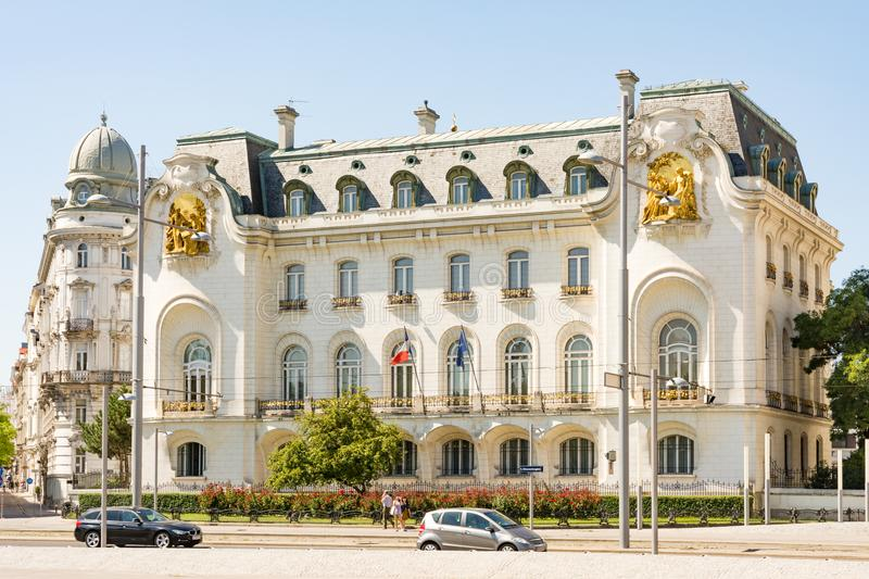 French Embassy in Vienna stock image